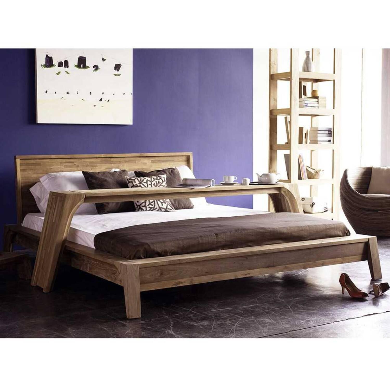 Кровать из массива дерева ценных пород Trapesium King купить