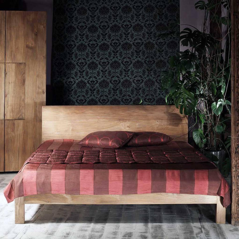Кровать из массива дерева ценных пород Priuli grey King
