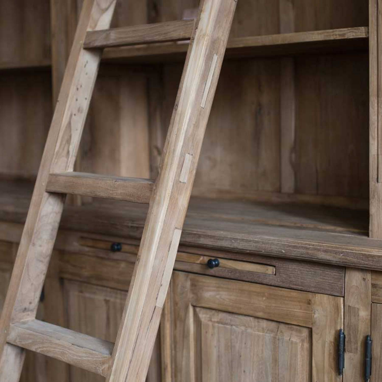 Книжный шкаф-библиотека из дерева ценных пород Katja