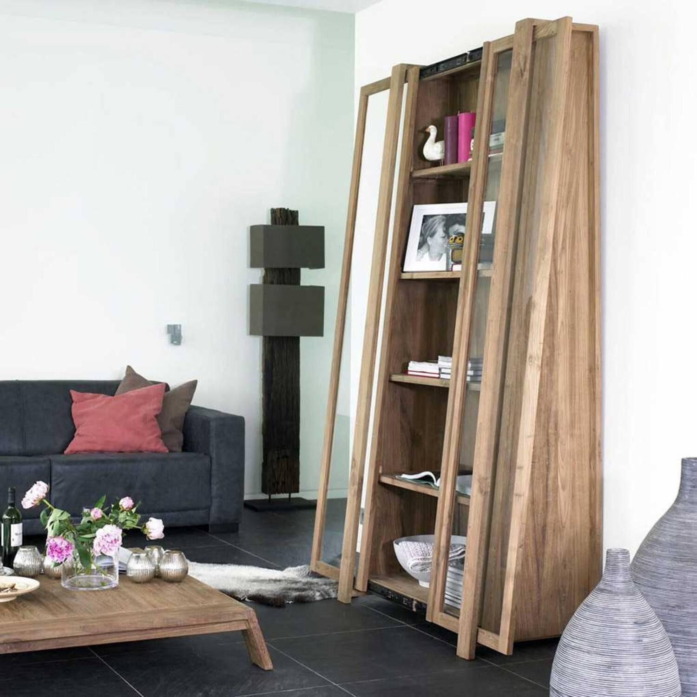Шкаф витринный из массива дерева ценных пород Sum 100