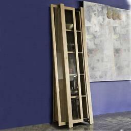Шкаф витринный из массива дерева ценных пород Trapesumm левый
