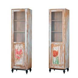 Витринный шкаф из массива дерева ценных пород TOUCH hibiscus 60