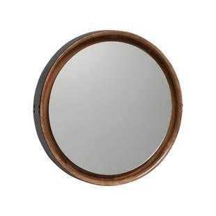Зеркало Leather&Wood Round Mirror