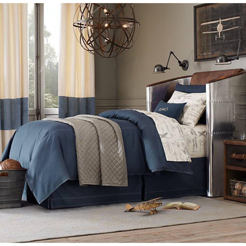 """Дизайнерская кровать в стиле """"Авиатор"""" Aviator High Back Bed"""