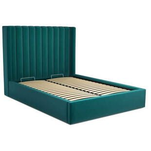 Кровать Cory с подъемным механизмом, изумрудная