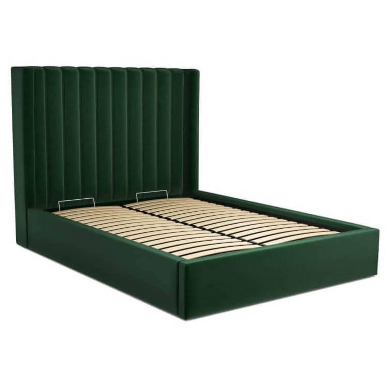 Кровать Cory с подъемным механизмом, зеленая