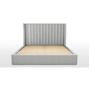 Кровать Cory с подъемным механизмом, серая