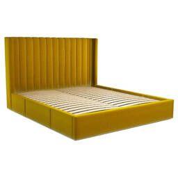 Кровать Cory с выдвижными ящиками для хранения, желтая