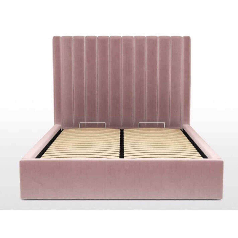 Кровать Cory с подъемным механизмом, розовая