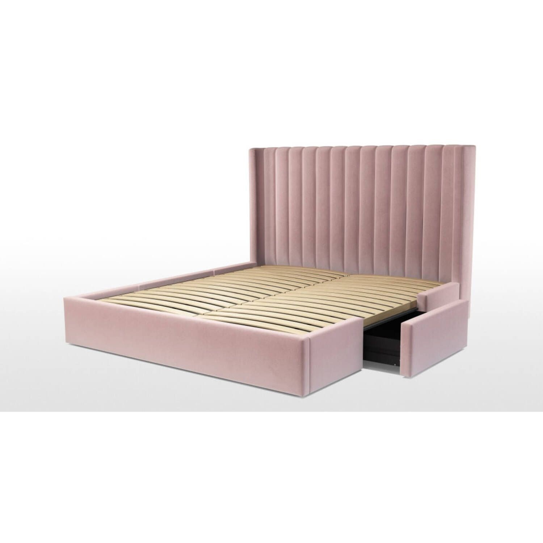 Кровать Cory с выдвижными ящиками для хранения, розовая