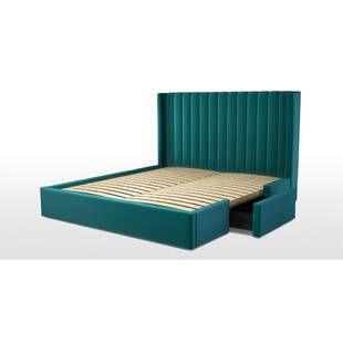 Кровать Cory с выдвижными ящиками для хранения, изумрудная