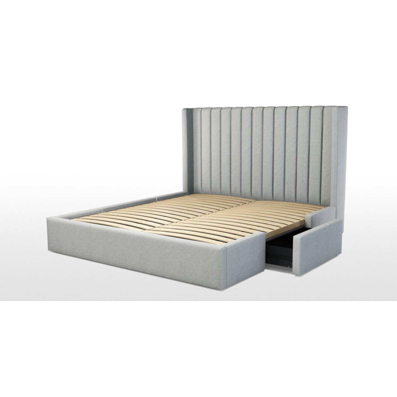Кровать Cory с выдвижными ящиками для хранения, серая