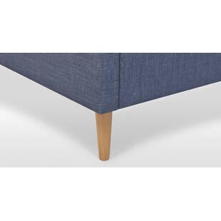 Кровать Cory на деревянных ножках, синяя
