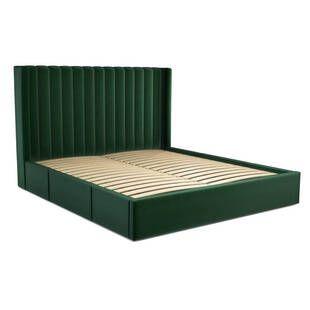 Кровать Cory с выдвижными ящиками для хранения, зеленая