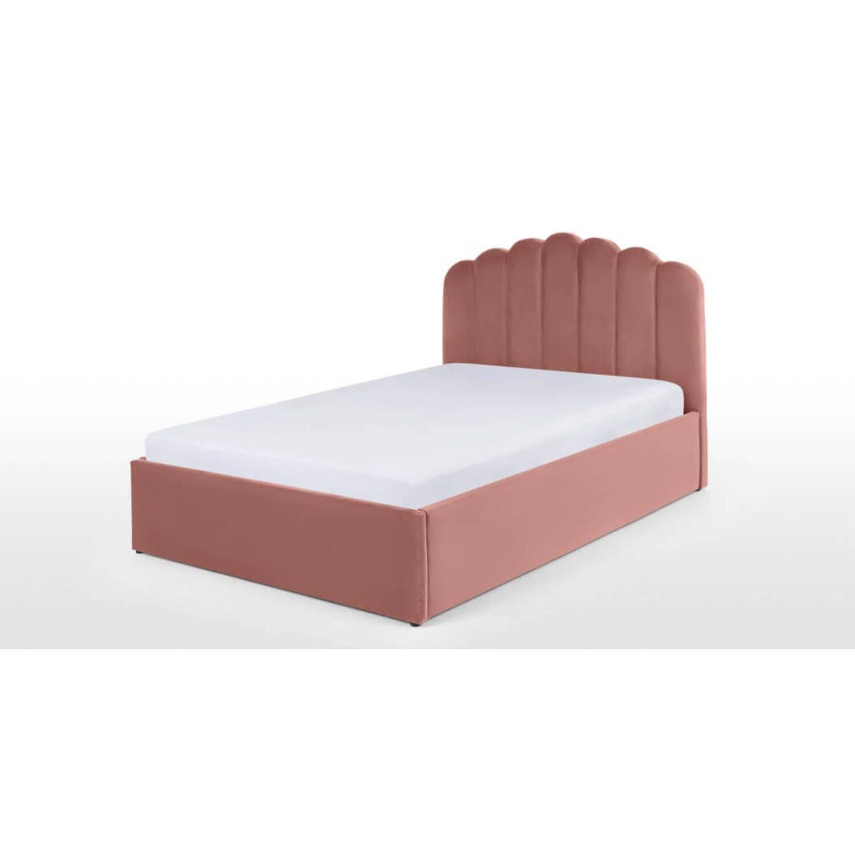 Кровать Delia с подъемным механизмом, розовая