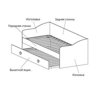 Кровать модели 0004