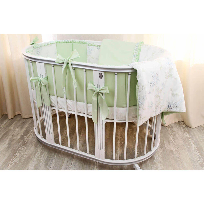 Детская дизайнерская кроватка модели Magic Dream 6 в 1, Ар-деко Серебро