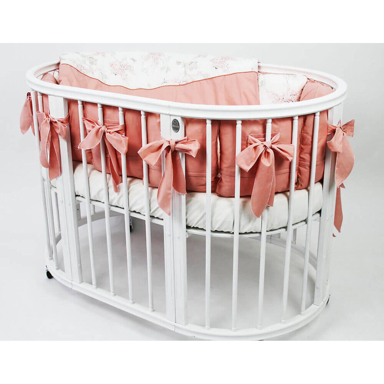 Детская дизайнерская кроватка модели Magic Dream 6 в 1, белая