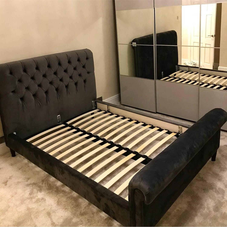 Кровать Orkney, бежевая