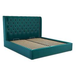 Кровать Romero с подъемным механизмом, бирюзовая
