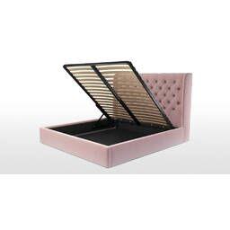 Кровать Romero с подъемным механизмом, розовая