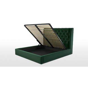 Кровать Romero с подъемным механизмом, зеленая