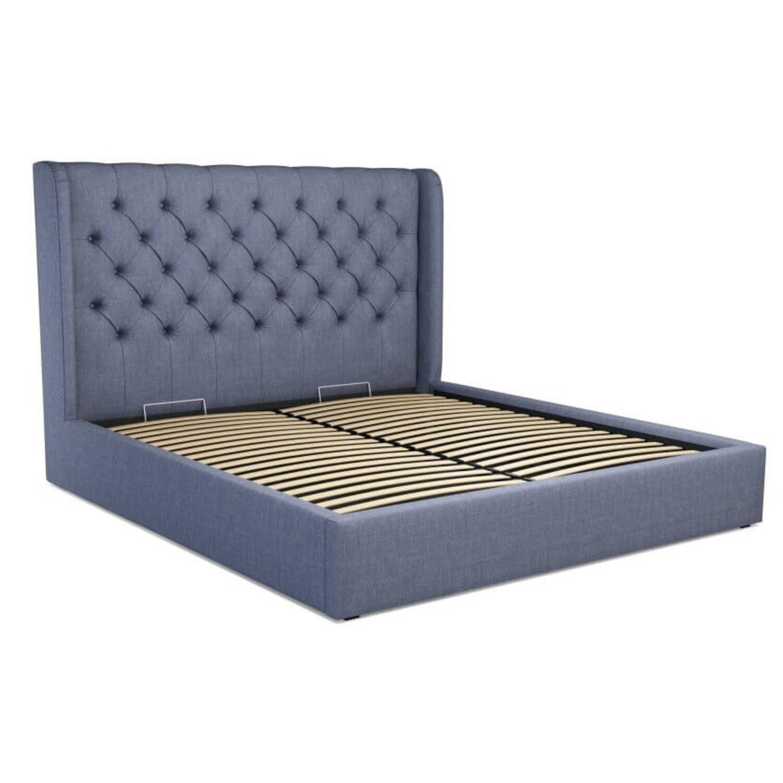 Кровать Romero с подъемным механизмом, голубая