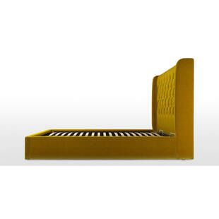 Кровать Romero с подъемным механизмом, желтая