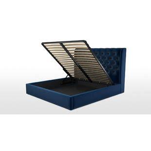 Кровать Romero с подъемным механизмом, синяя