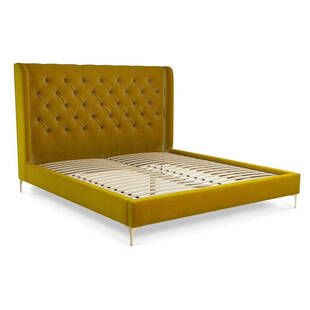 Кровать Romero на ножках, желтая