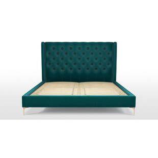 Кровать Romero на ножках, бирюзовая