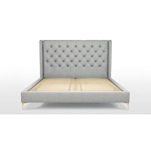 Кровать Romero на ножках, светло-серая