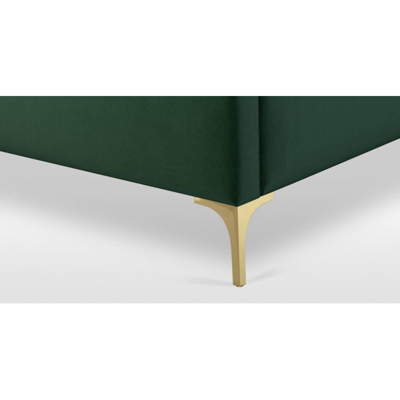 Кровать Romero на ножках, зеленая