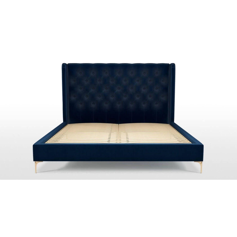 Кровать Romero на ножках, синяя купить