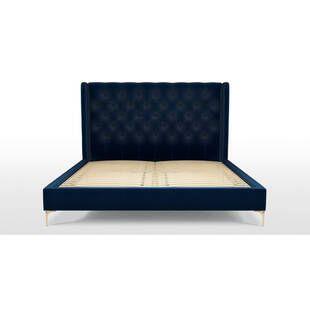 Кровать Romero на ножках, синяя