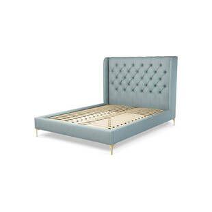 Кровать Romero на ножках, голубая