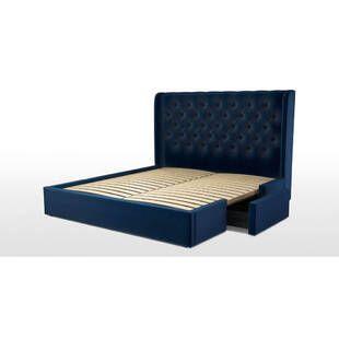 Кровать Romero с ящиками для хранения, синяя