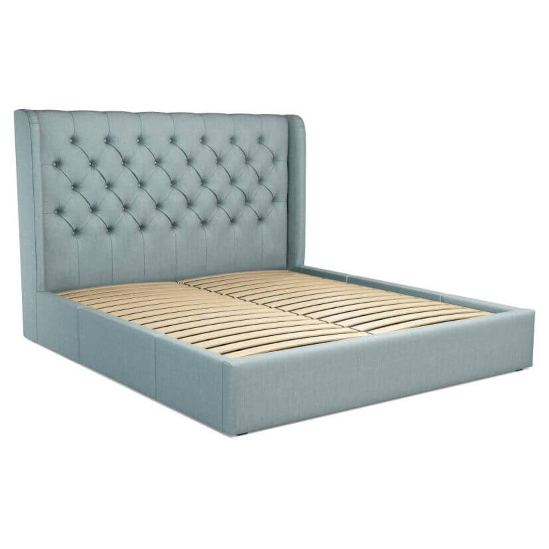 Кровать Romero с ящиками для хранения, голубая