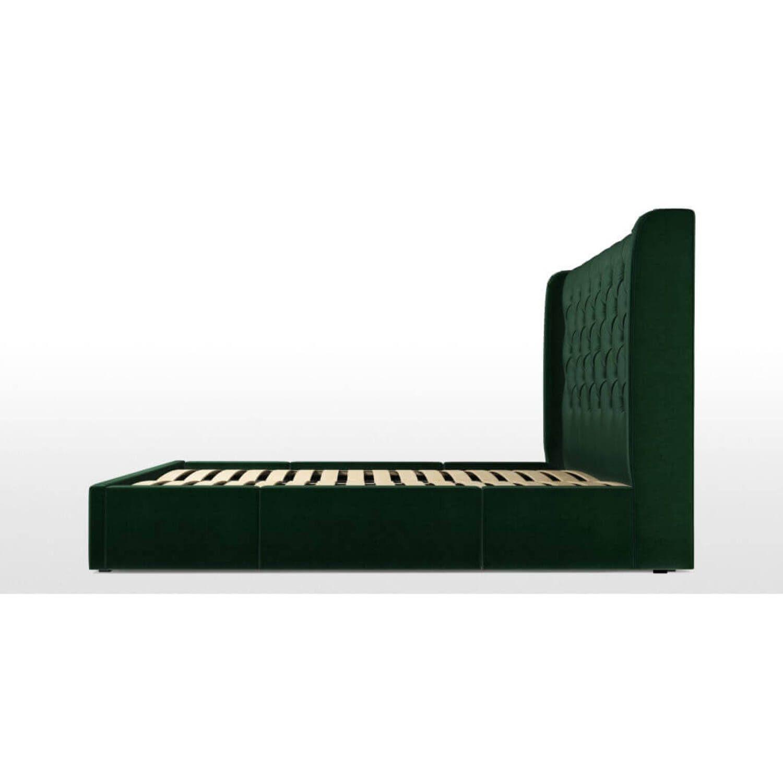 Кровать Romero с ящиками для хранения, зеленая