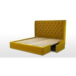 Кровать Romero с ящиками для хранения, желтая
