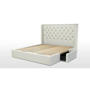 Кровать Romero с ящиками для хранения, белая