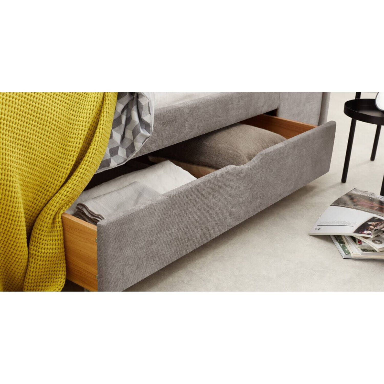 Кровать Skye с ящиками для хранения, бежевая