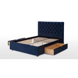 Кровать Skye с ящиками для хранения, синяя