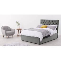 Кровать Skye с подъемным механизмом, серая
