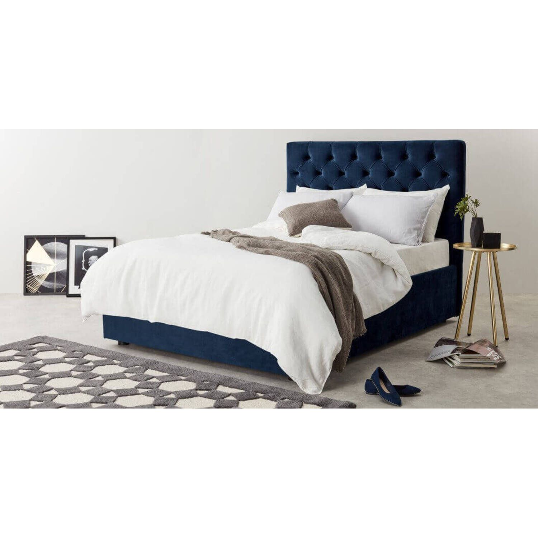 Кровать Skye с подъемным механизмом, синяя
