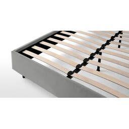 Кровать Skye на деревянных ножках, серая