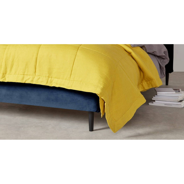 Кровать Skye на деревянных ножках, синяя купить