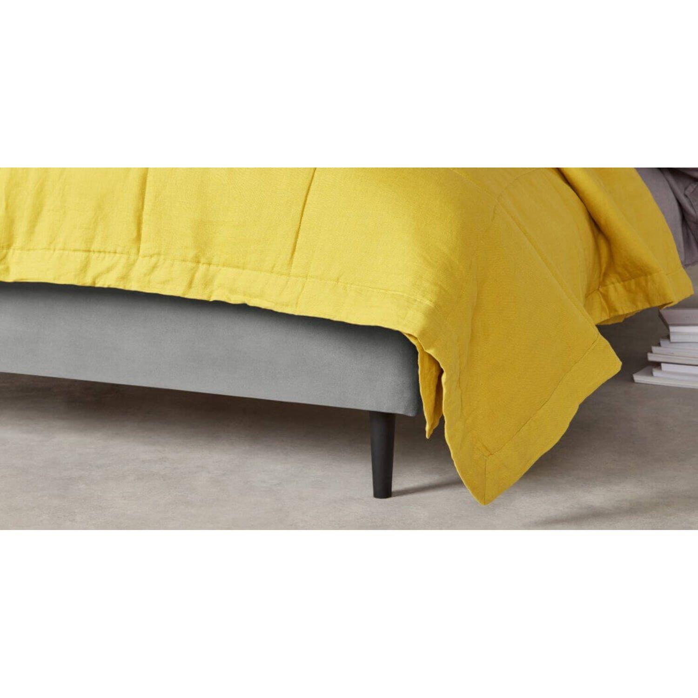 Кровать Skye на деревянных ножках, бежевая