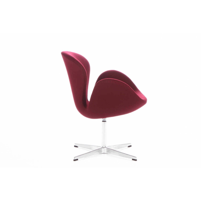 Бордовое кресло Swan, тканевая обивка