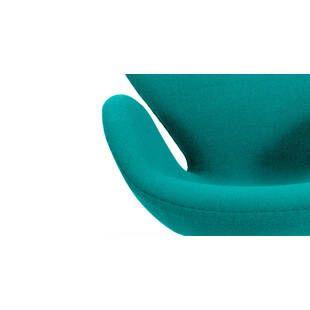 Бирюзовое кресло Swan, тканевая обивка
